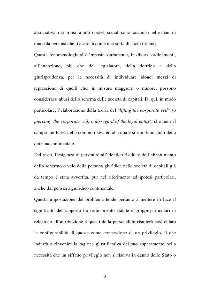 Anteprima della tesi: Personalità e soggettività giuridica. Un caso specifico: ''Le Anstalten''., Pagina 3