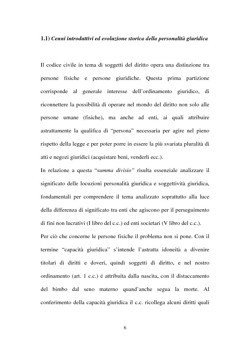 Anteprima della tesi: Personalità e soggettività giuridica. Un caso specifico: ''Le Anstalten''., Pagina 6