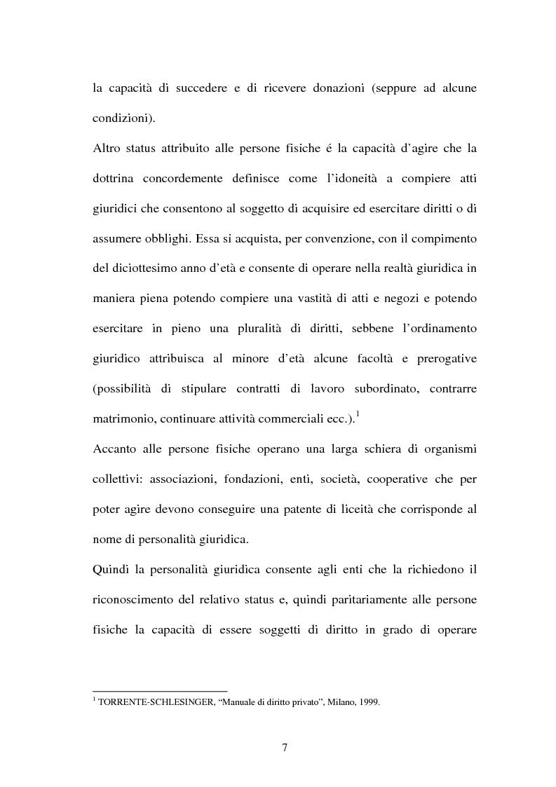 Anteprima della tesi: Personalità e soggettività giuridica. Un caso specifico: ''Le Anstalten''., Pagina 7