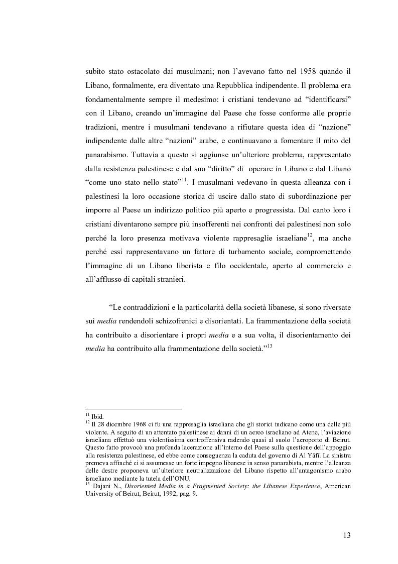 Anteprima della tesi: Cinema: specchio della società. La guerra civile nei film libanesi, Pagina 10