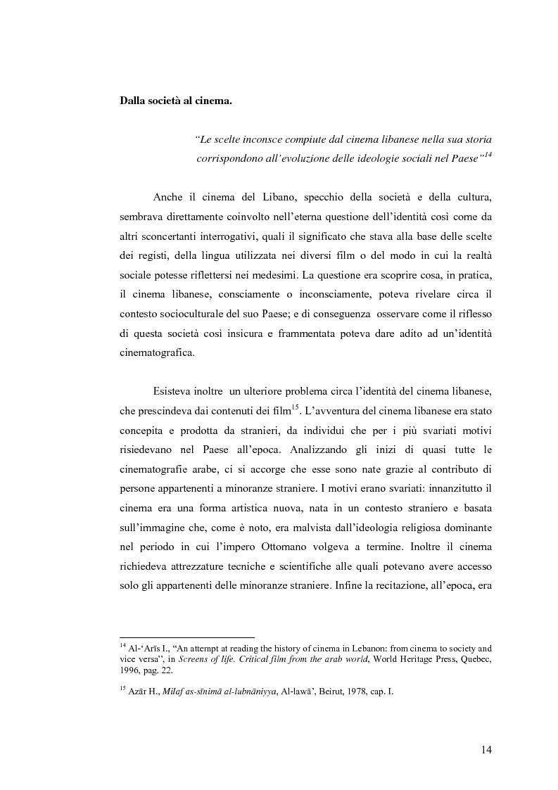 Anteprima della tesi: Cinema: specchio della società. La guerra civile nei film libanesi, Pagina 11