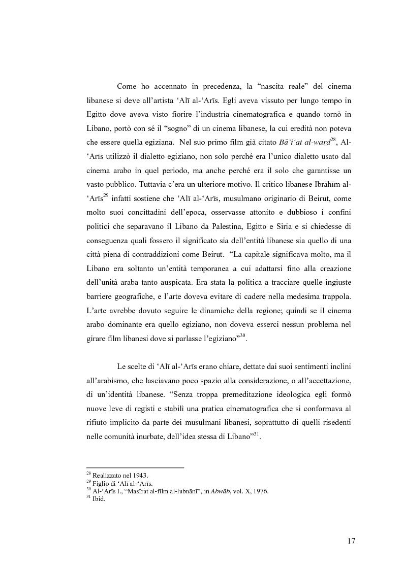 Anteprima della tesi: Cinema: specchio della società. La guerra civile nei film libanesi, Pagina 14