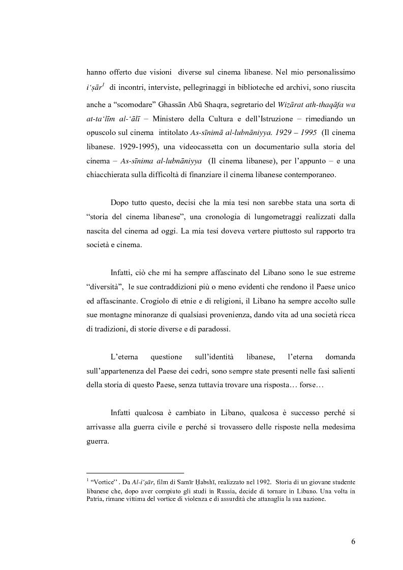 Anteprima della tesi: Cinema: specchio della società. La guerra civile nei film libanesi, Pagina 3