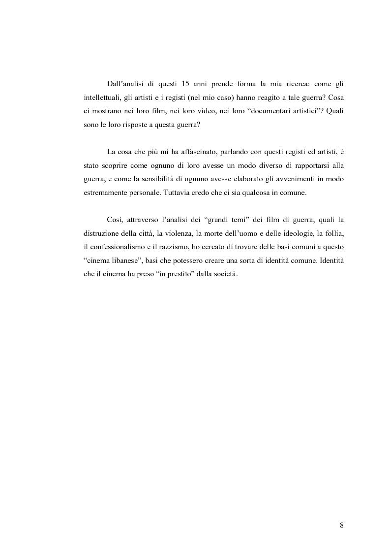 Anteprima della tesi: Cinema: specchio della società. La guerra civile nei film libanesi, Pagina 5