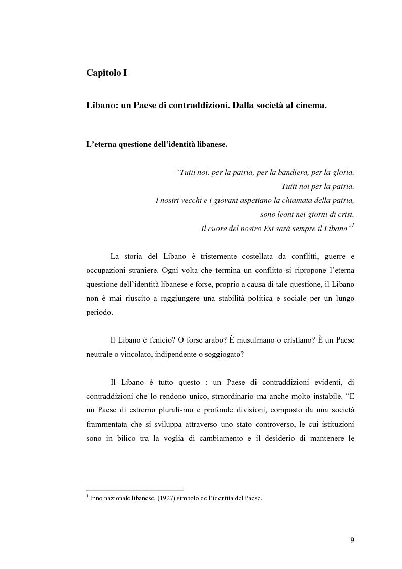 Anteprima della tesi: Cinema: specchio della società. La guerra civile nei film libanesi, Pagina 6
