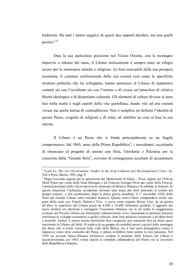 Anteprima della tesi: Cinema: specchio della società. La guerra civile nei film libanesi, Pagina 7