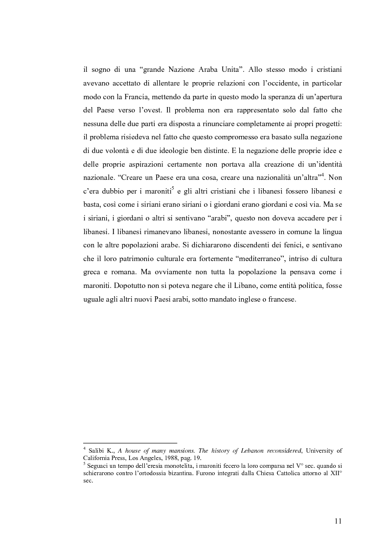 Anteprima della tesi: Cinema: specchio della società. La guerra civile nei film libanesi, Pagina 8