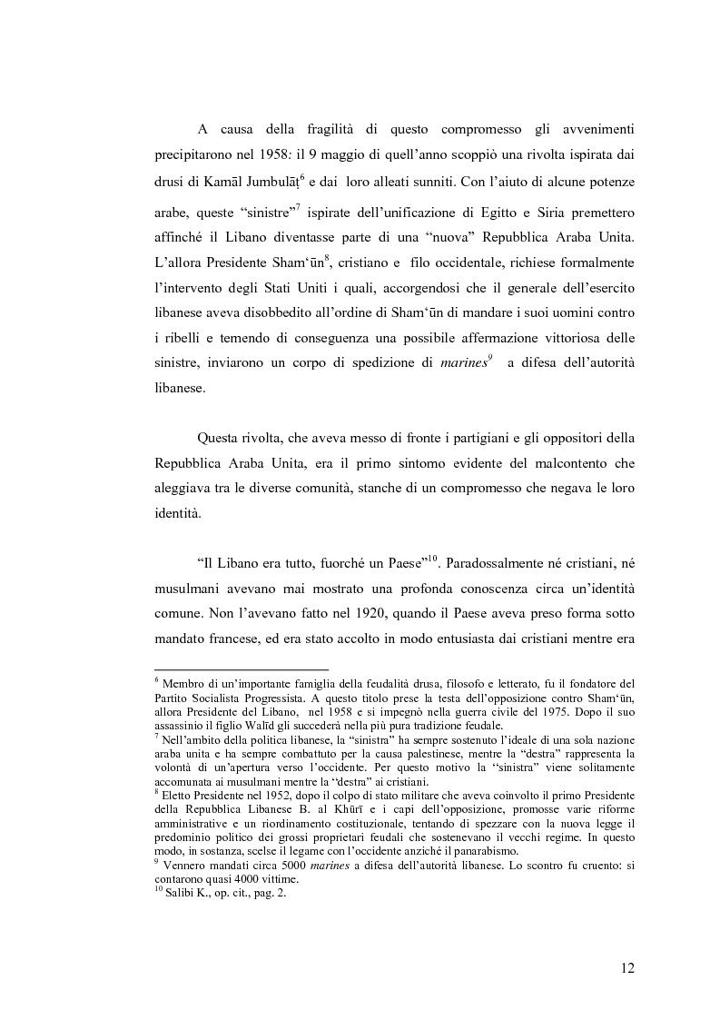 Anteprima della tesi: Cinema: specchio della società. La guerra civile nei film libanesi, Pagina 9