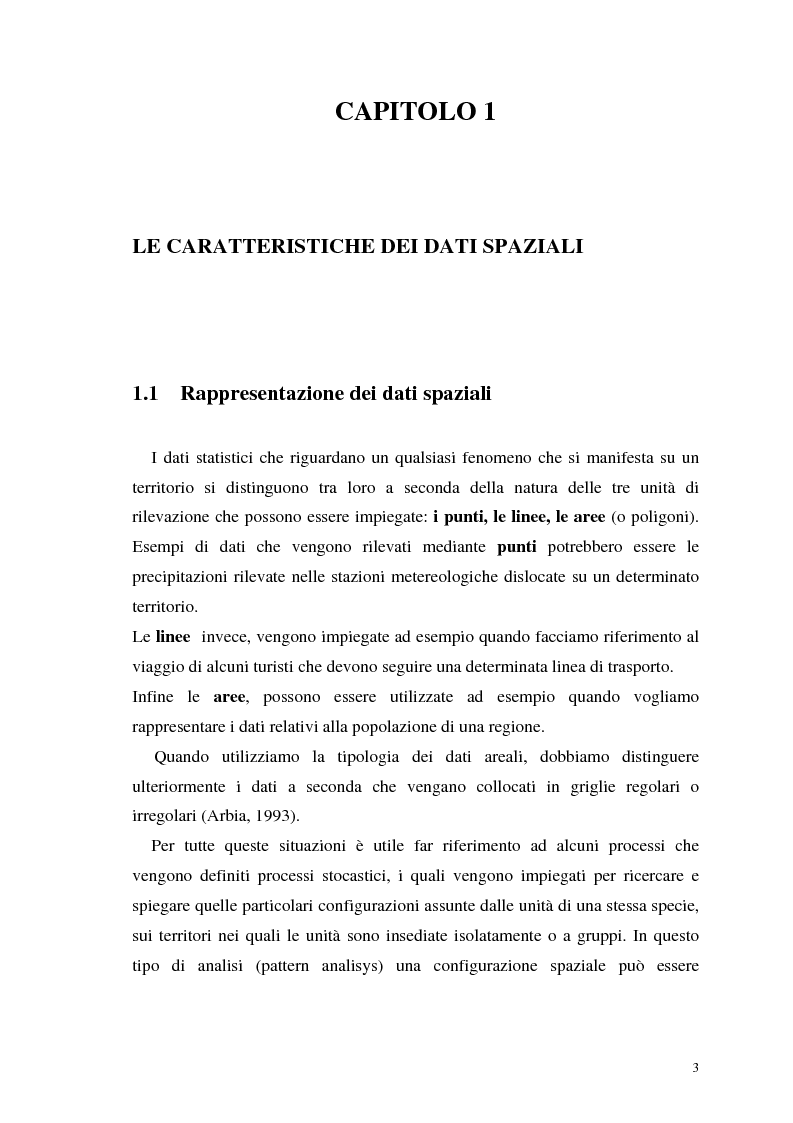 Anteprima della tesi: L'analisi statistica spaziale e lo studio dei problemi di inquinamento ambientale, Pagina 3
