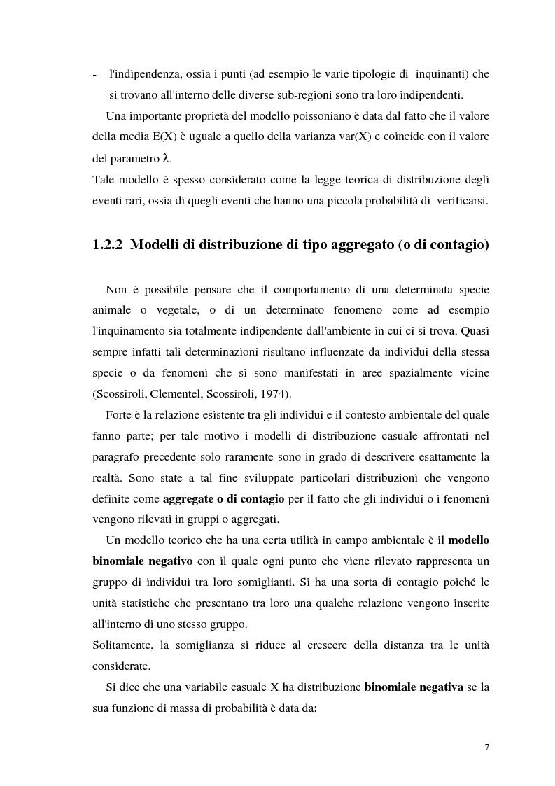 Anteprima della tesi: L'analisi statistica spaziale e lo studio dei problemi di inquinamento ambientale, Pagina 7