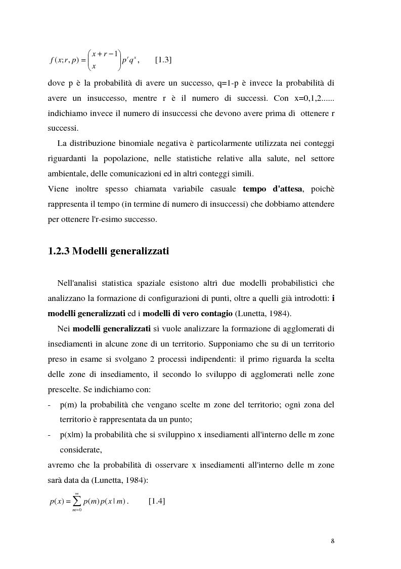 Anteprima della tesi: L'analisi statistica spaziale e lo studio dei problemi di inquinamento ambientale, Pagina 8