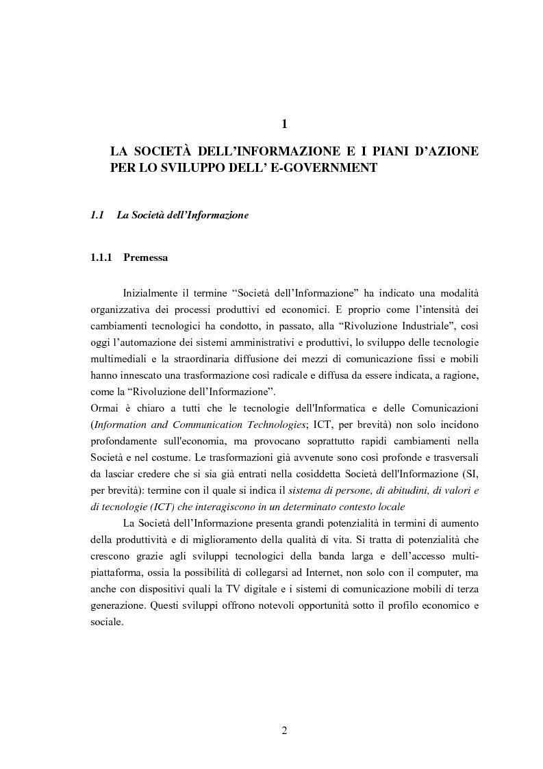 Anteprima della tesi: Sviluppo di un'Infrastuttura di e-Government per l'Erogazione di Servizi Web, Pagina 2