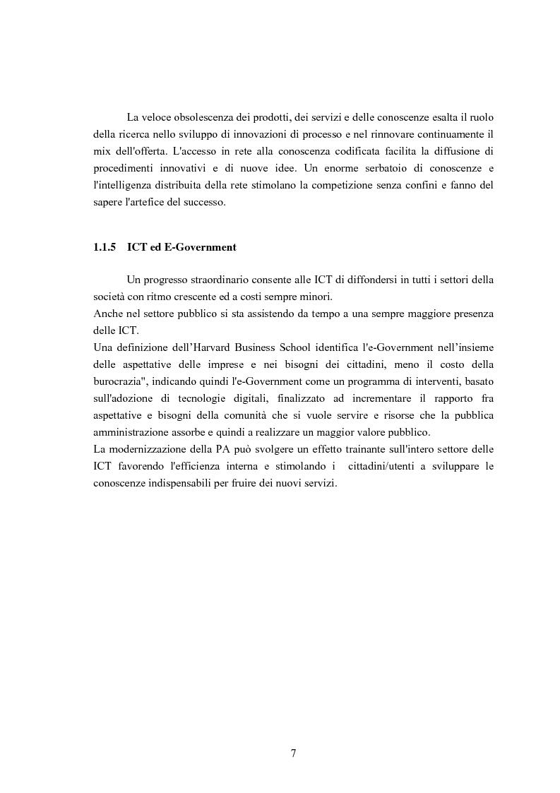 Anteprima della tesi: Sviluppo di un'Infrastuttura di e-Government per l'Erogazione di Servizi Web, Pagina 7