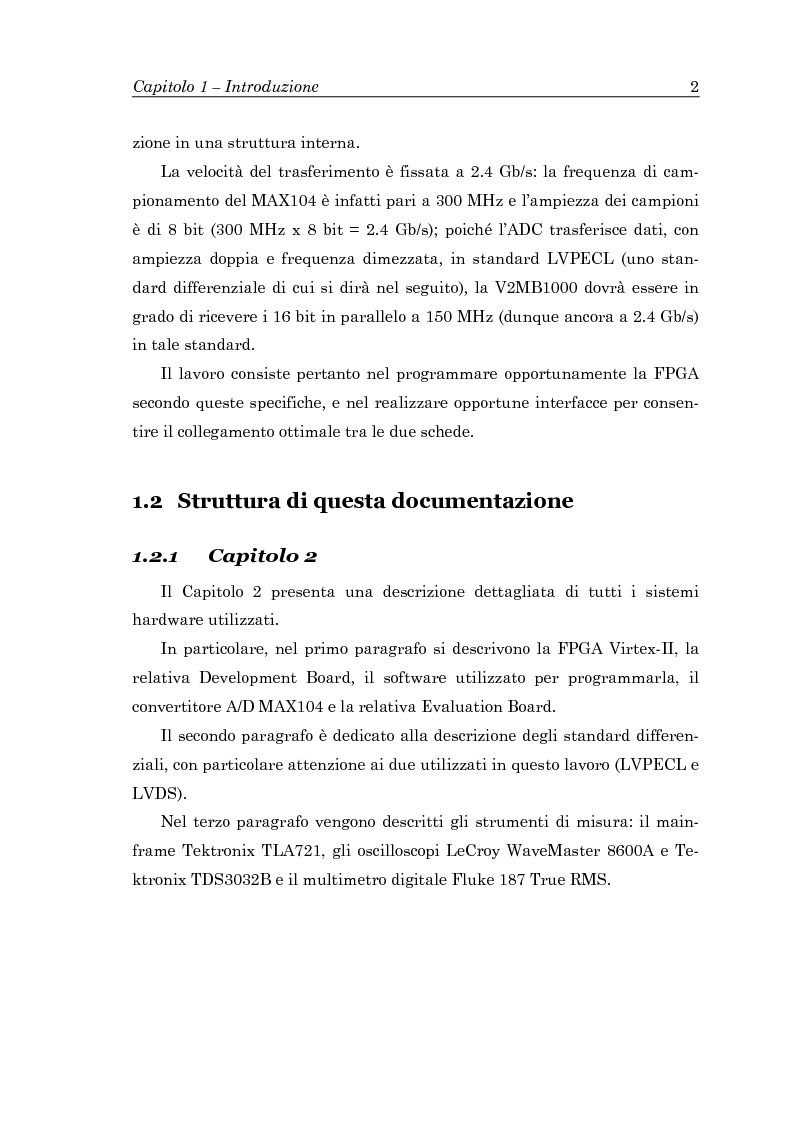 Anteprima della tesi: Trasferimento dati a 2.4 Gb/s in standard differenziale, Pagina 4