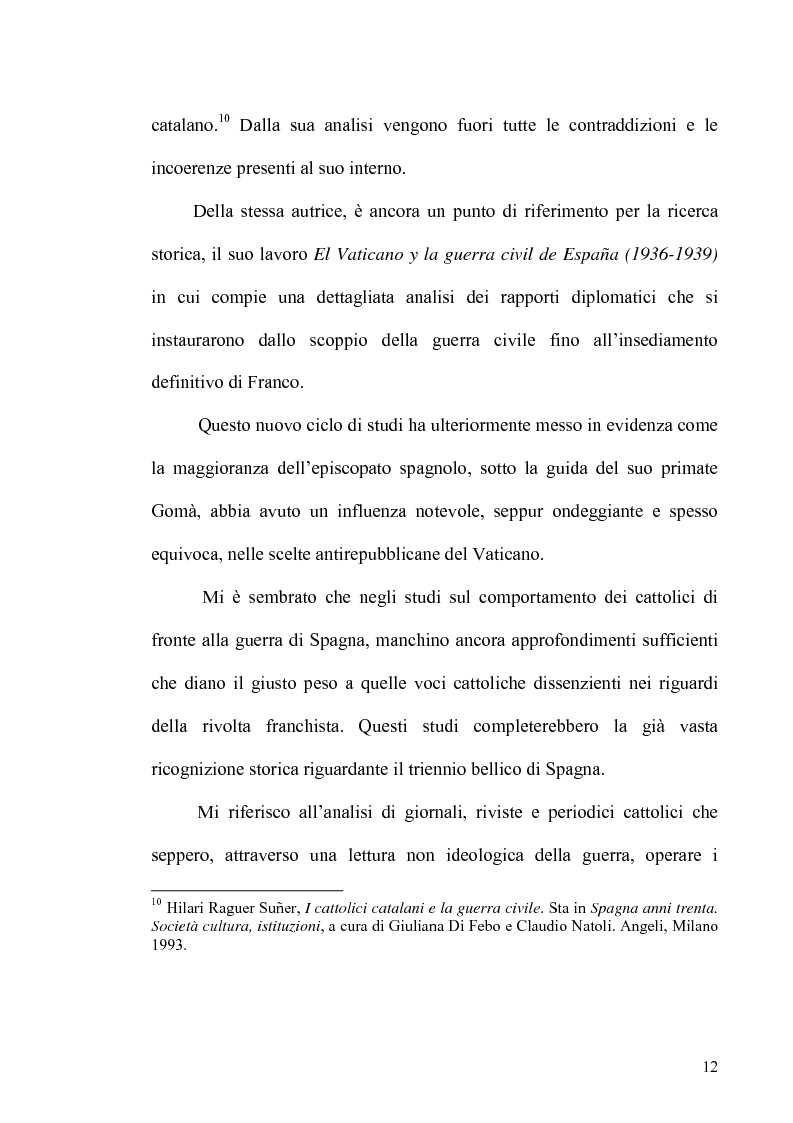 Anteprima della tesi: Aspetti dell'antifascismo cattolico nella guerra civile di Spagna, Pagina 10