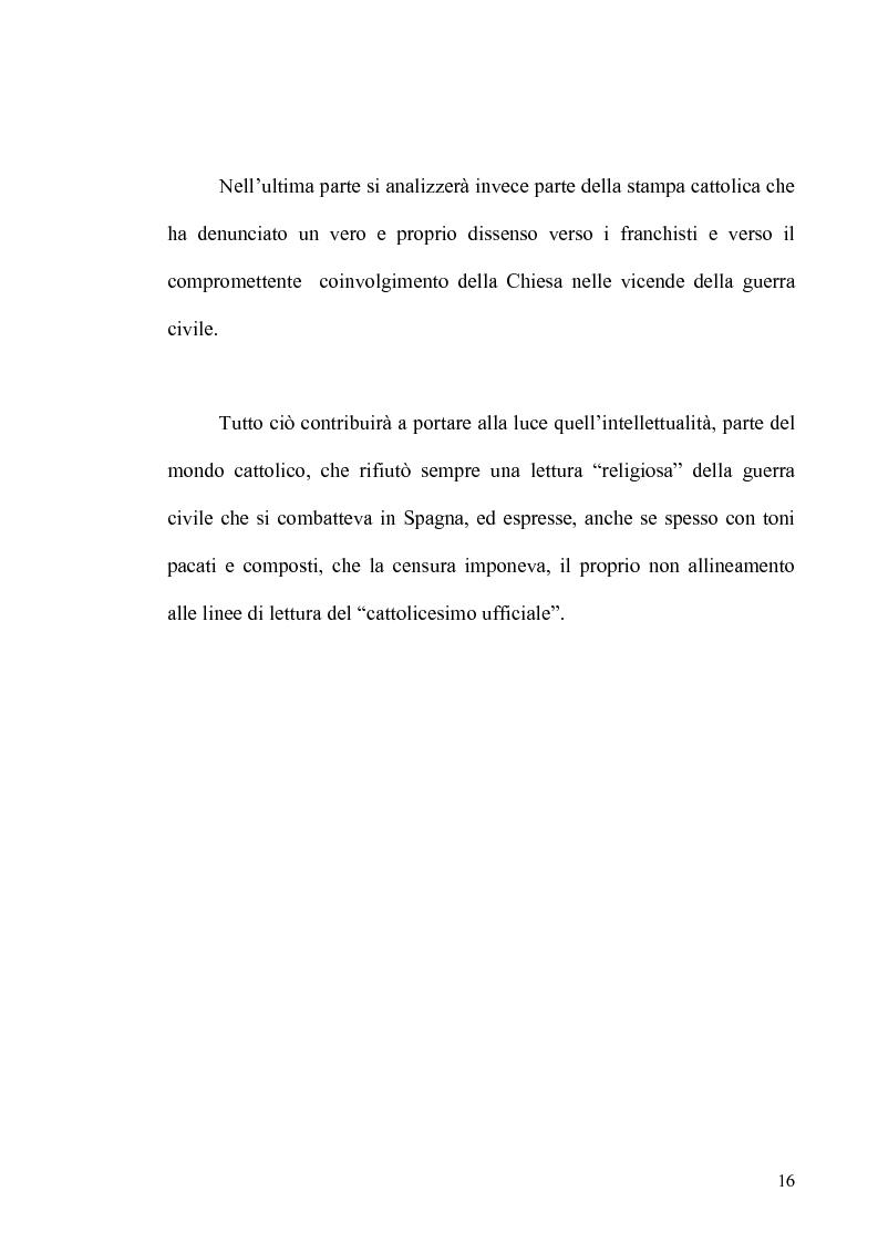 Anteprima della tesi: Aspetti dell'antifascismo cattolico nella guerra civile di Spagna, Pagina 14