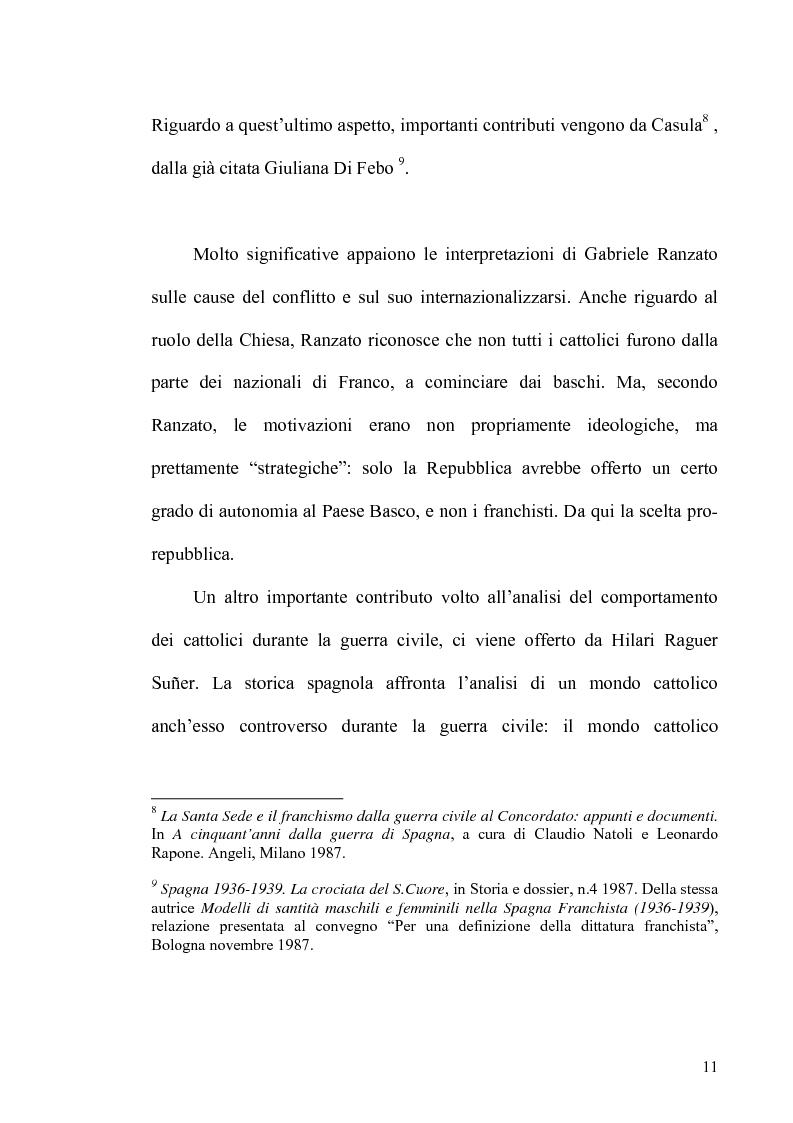 Anteprima della tesi: Aspetti dell'antifascismo cattolico nella guerra civile di Spagna, Pagina 9