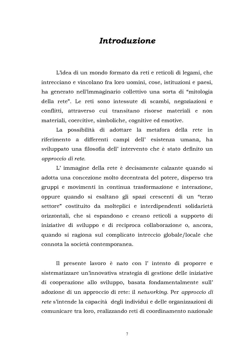 Anteprima della tesi: L'approccio di rete come elemento strategico nella gestione delle iniziative di cooperazione allo sviluppo. Il caso Potosì, Pagina 1
