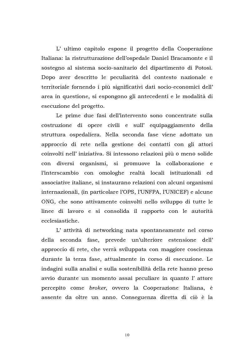 Anteprima della tesi: L'approccio di rete come elemento strategico nella gestione delle iniziative di cooperazione allo sviluppo. Il caso Potosì, Pagina 4