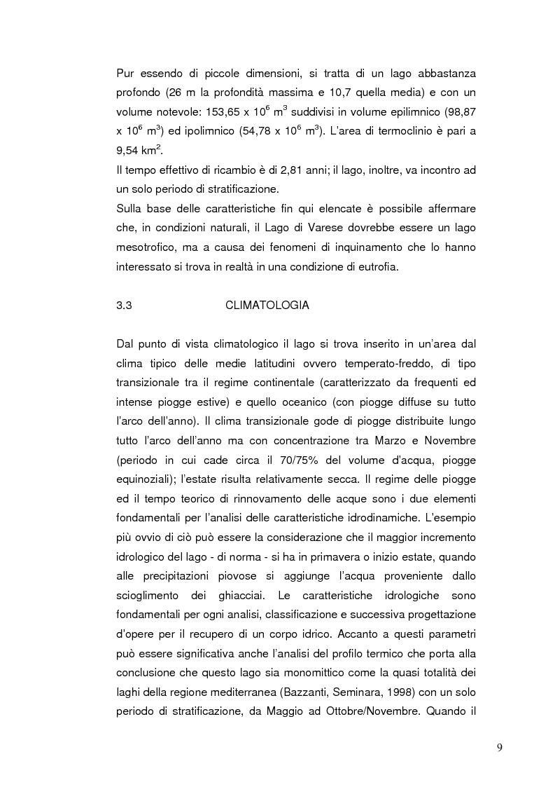 Anteprima della tesi: I Chironomidi (Insecta Diptera) come indicatori dello stato trofico del Lago di Varese, Pagina 10