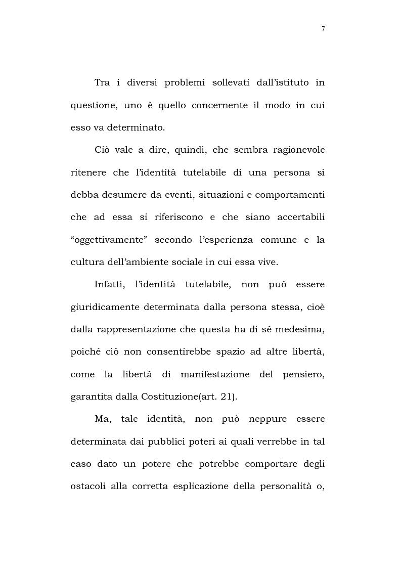 Anteprima della tesi: Il diritto alla identità personale, Pagina 4