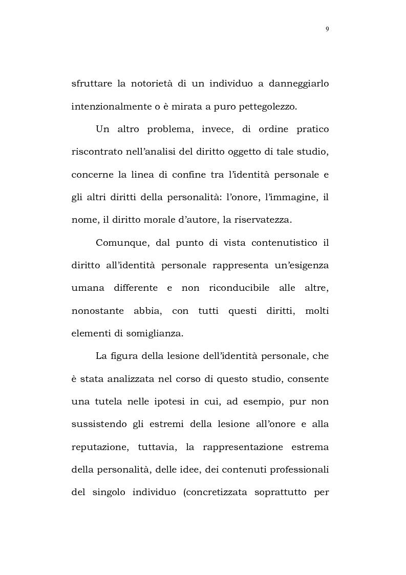 Anteprima della tesi: Il diritto alla identità personale, Pagina 6