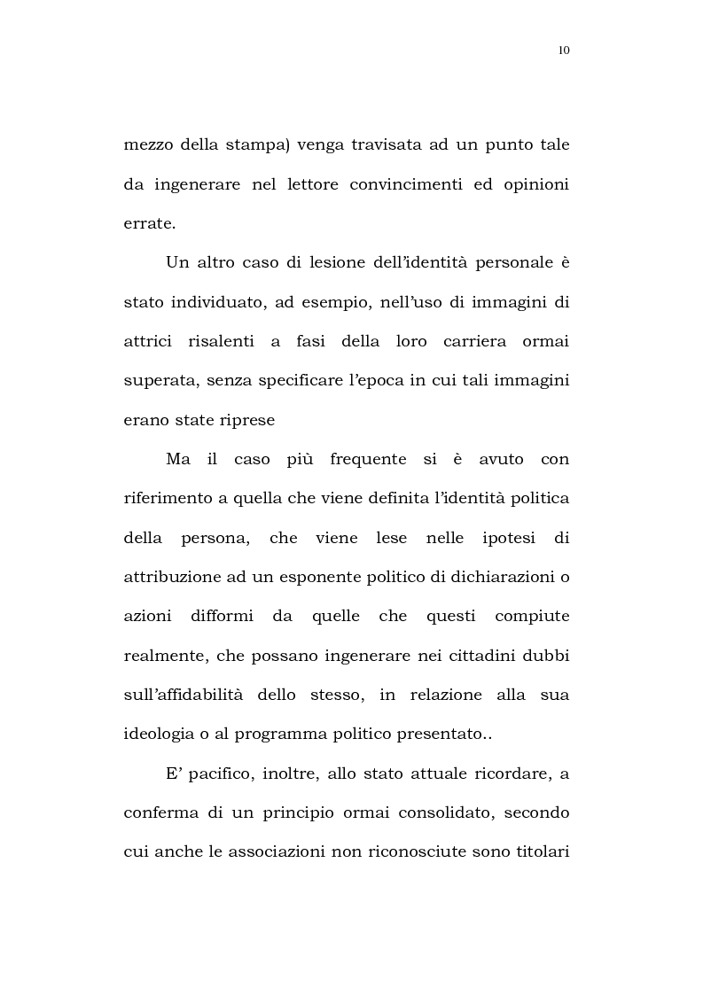 Anteprima della tesi: Il diritto alla identità personale, Pagina 7