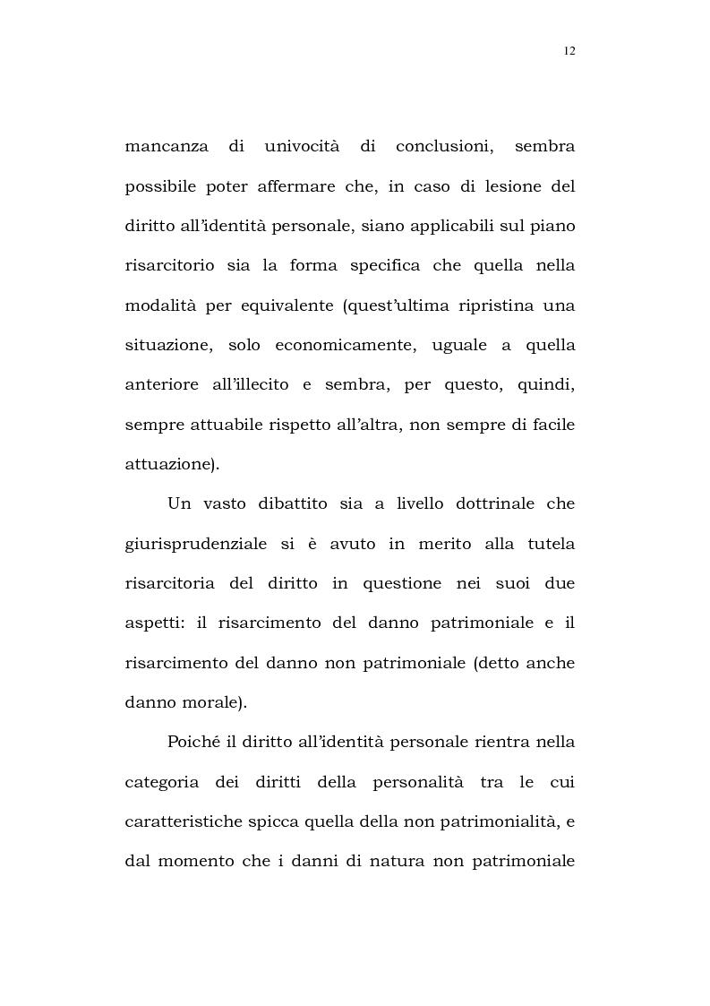 Anteprima della tesi: Il diritto alla identità personale, Pagina 9