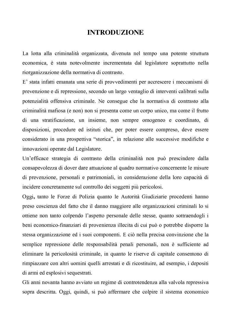 Anteprima della tesi: Le misure di prevenzione, Pagina 1