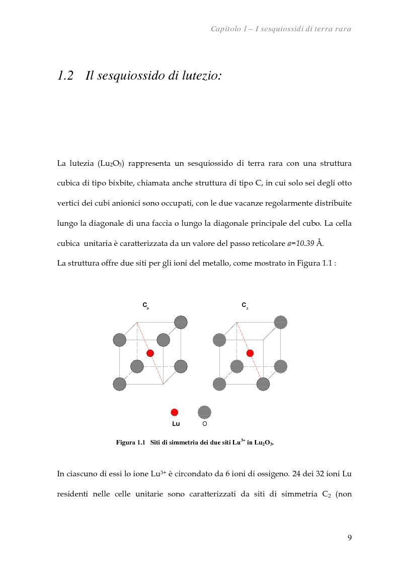 Anteprima della tesi: Spettroscopia Mossbauer dell'europio in Lu2O3 nanocristallino e bulk, Pagina 3