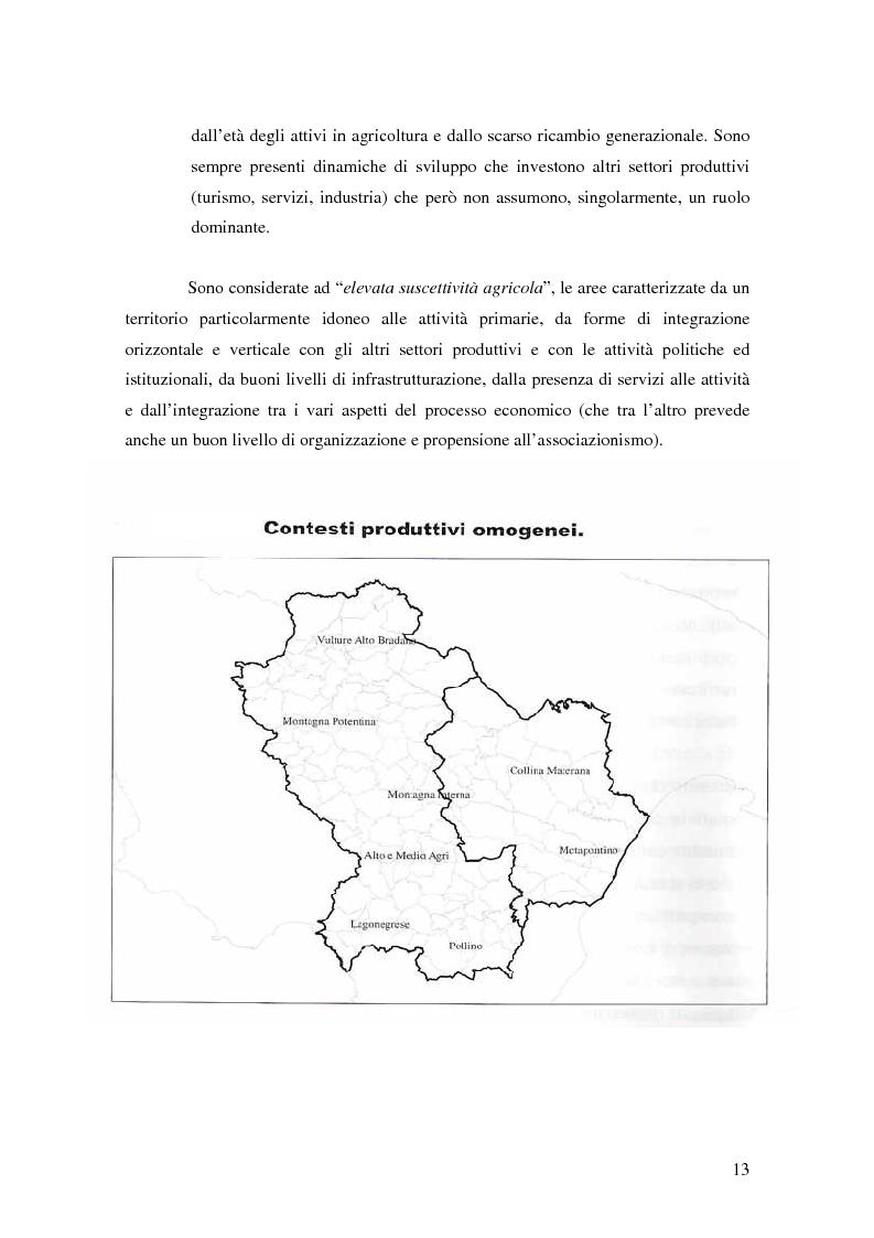 Anteprima della tesi: Il possibile distretto agroalimentare del Vulture - Alto Bradano, Pagina 10