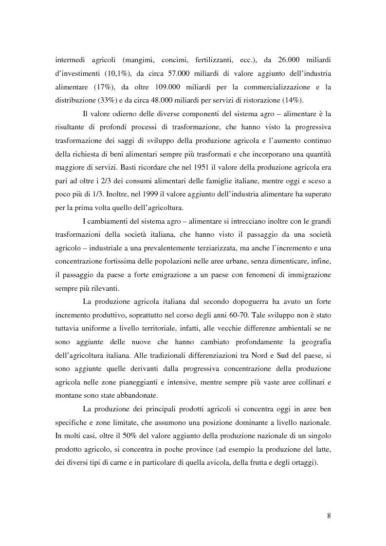 Anteprima della tesi: Il possibile distretto agroalimentare del Vulture - Alto Bradano, Pagina 5