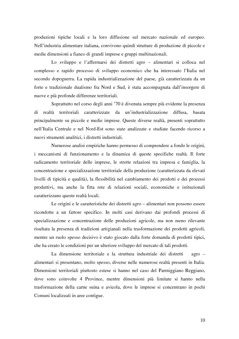 Anteprima della tesi: Il possibile distretto agroalimentare del Vulture - Alto Bradano, Pagina 7