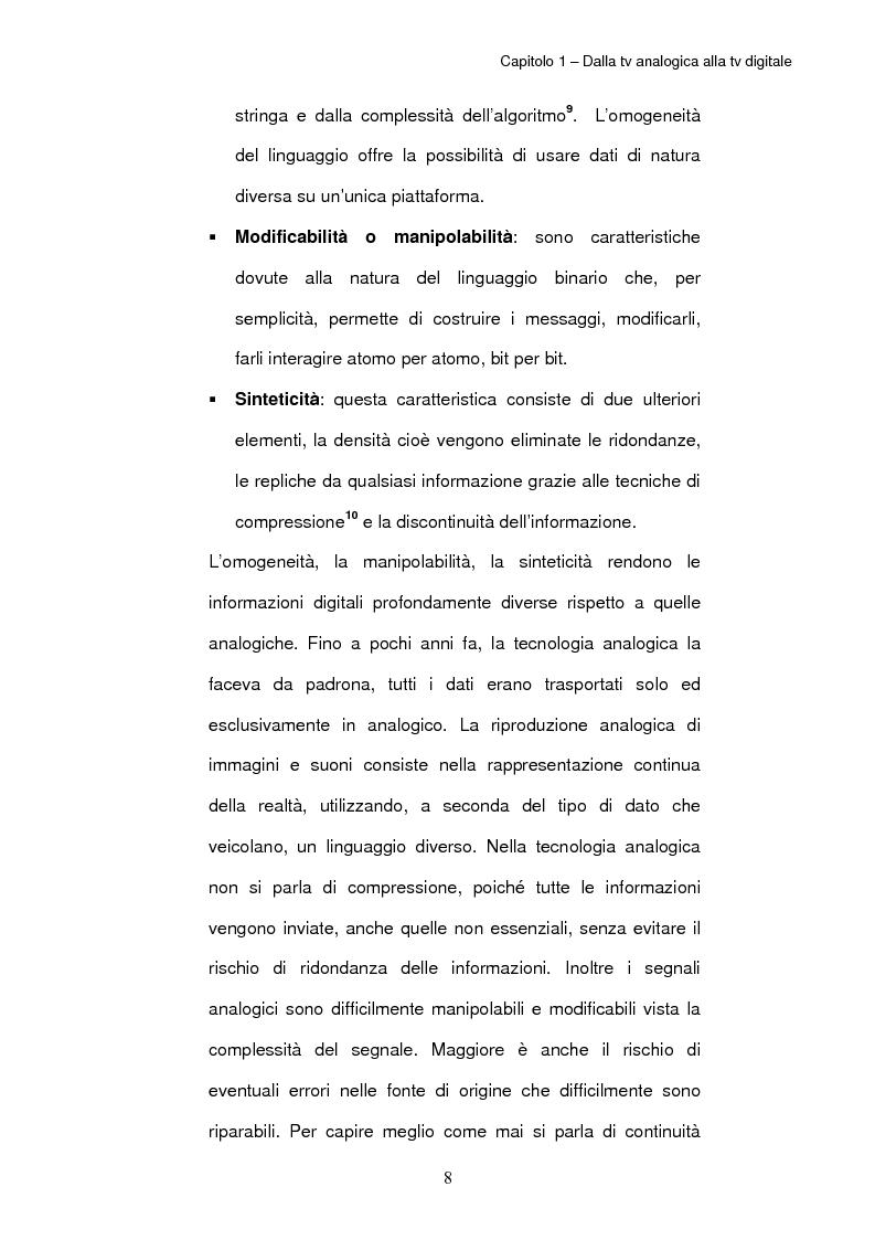 Anteprima della tesi: TV digitale terrestre: strategie di promozione. Il caso Mediaset., Pagina 12