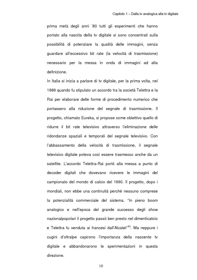 Anteprima della tesi: TV digitale terrestre: strategie di promozione. Il caso Mediaset., Pagina 14