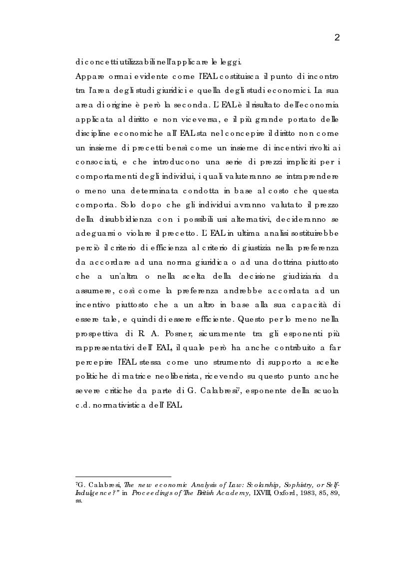 Anteprima della tesi: Analisi economica dell'espropriazione, Pagina 2