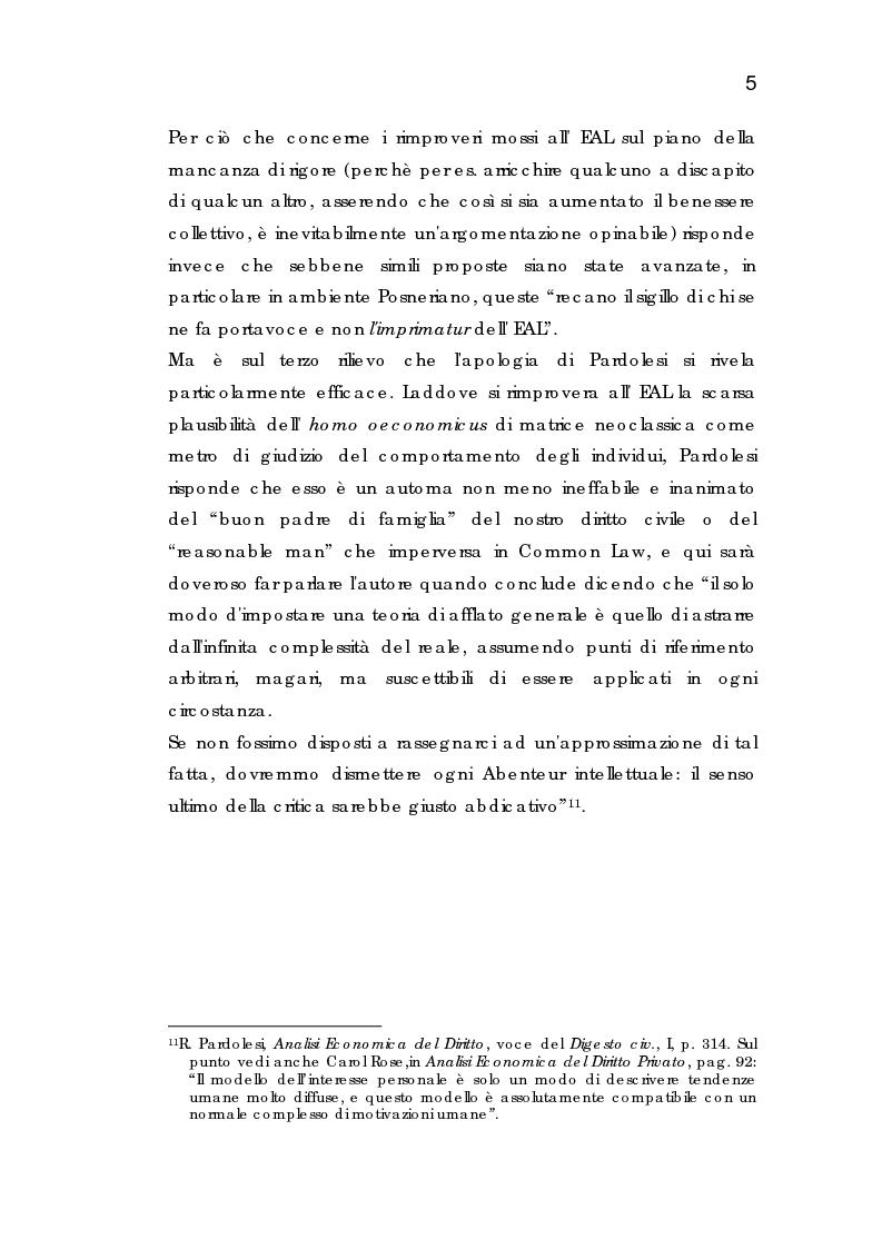 Anteprima della tesi: Analisi economica dell'espropriazione, Pagina 5