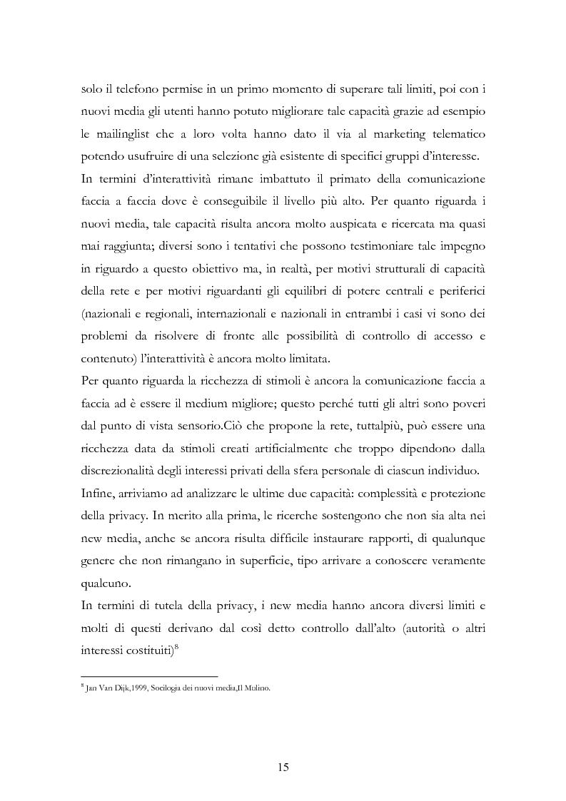 Anteprima della tesi: I New Media I Giovani e la Democrazia, Pagina 11