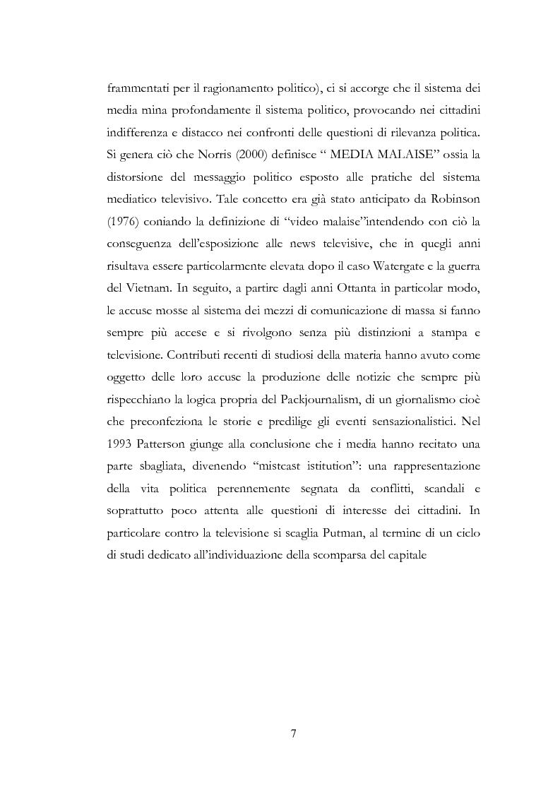 Anteprima della tesi: I New Media I Giovani e la Democrazia, Pagina 3