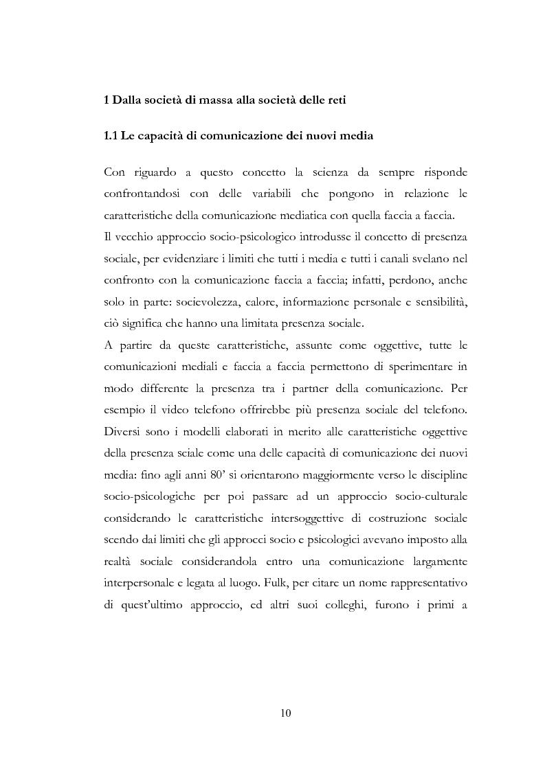 Anteprima della tesi: I New Media I Giovani e la Democrazia, Pagina 6