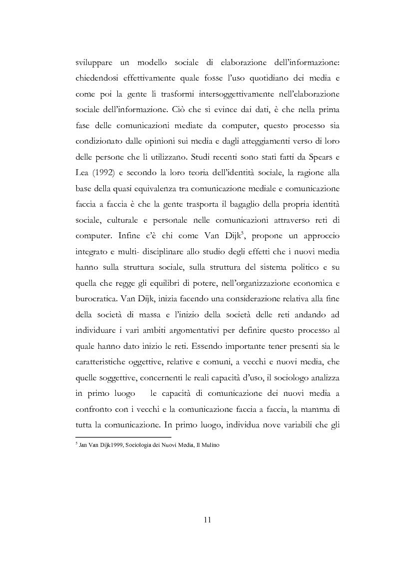 Anteprima della tesi: I New Media I Giovani e la Democrazia, Pagina 7