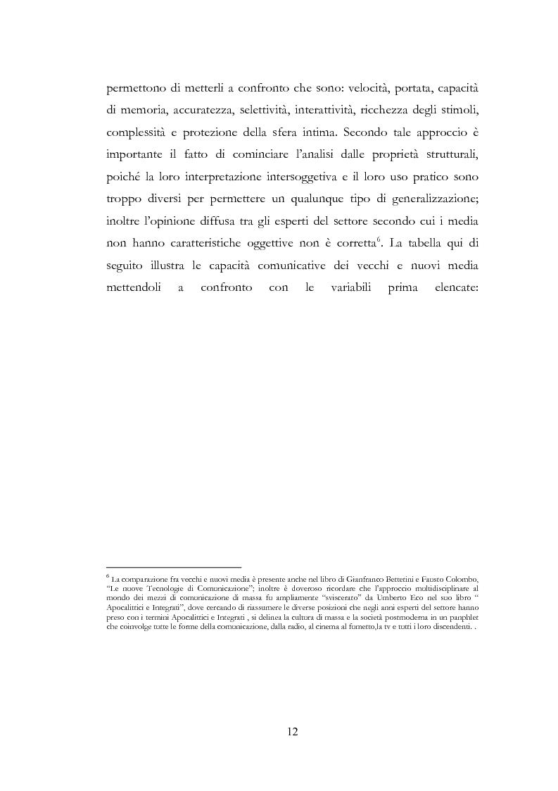 Anteprima della tesi: I New Media I Giovani e la Democrazia, Pagina 8