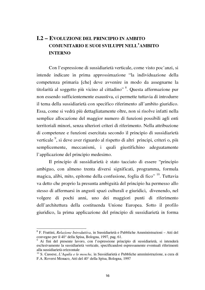 Anteprima della tesi: Il principio di sussidiarietà nel sistema delle autonomie locali, Pagina 11