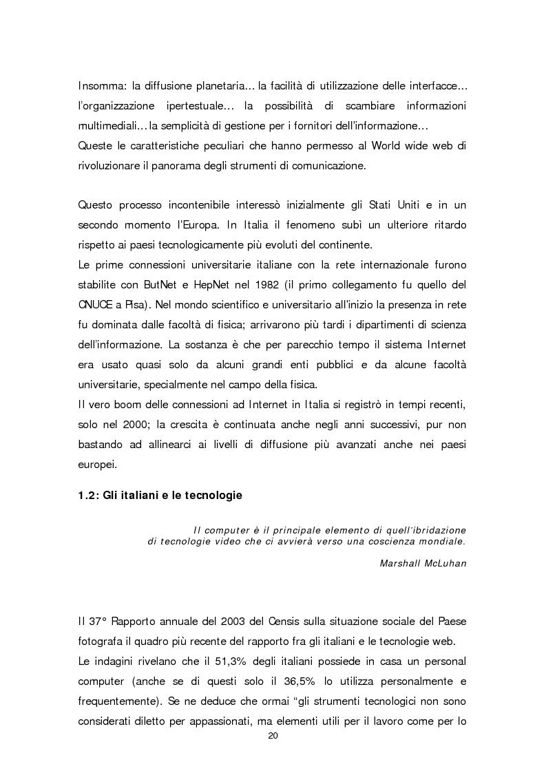 Anteprima della tesi: Il sito web della biblioteca pubblica, Pagina 14