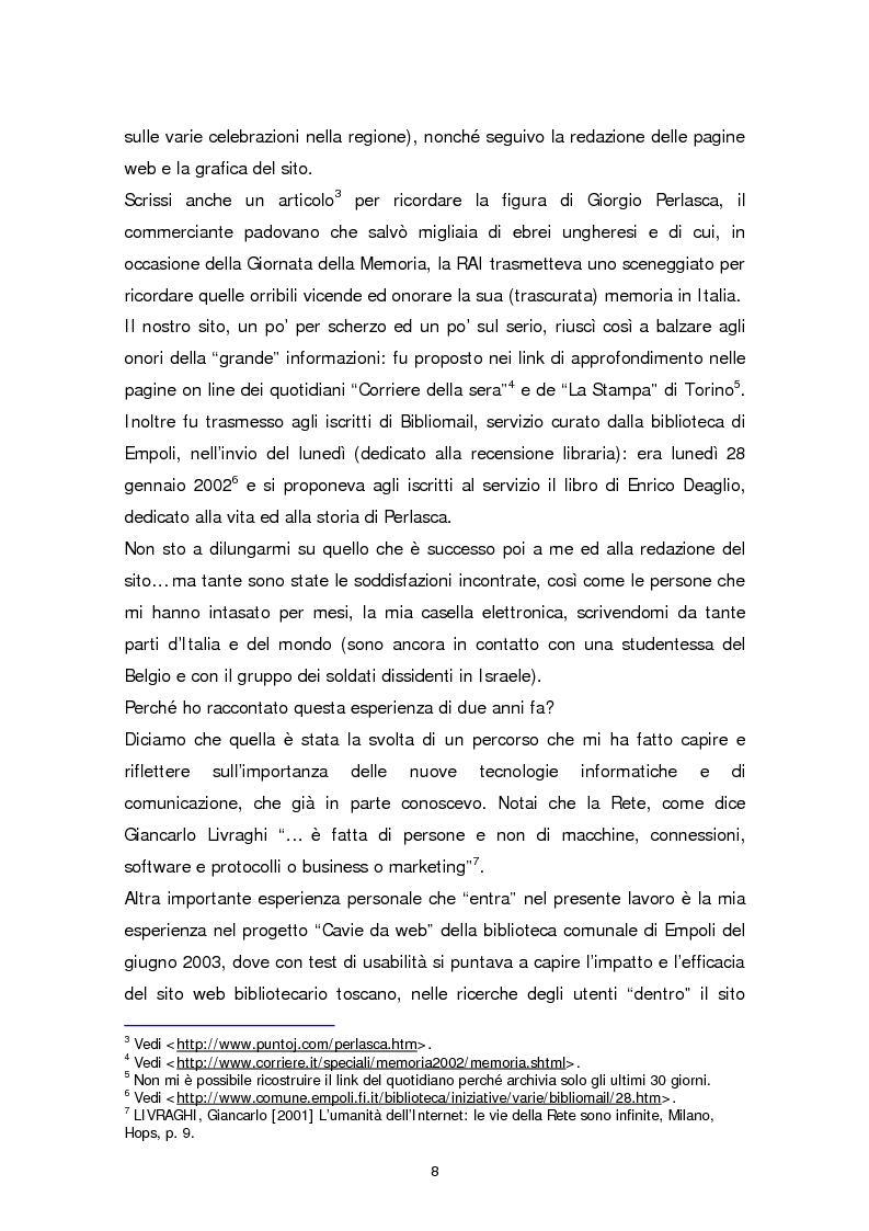 Anteprima della tesi: Il sito web della biblioteca pubblica, Pagina 2