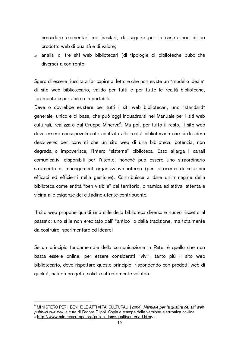 Anteprima della tesi: Il sito web della biblioteca pubblica, Pagina 4