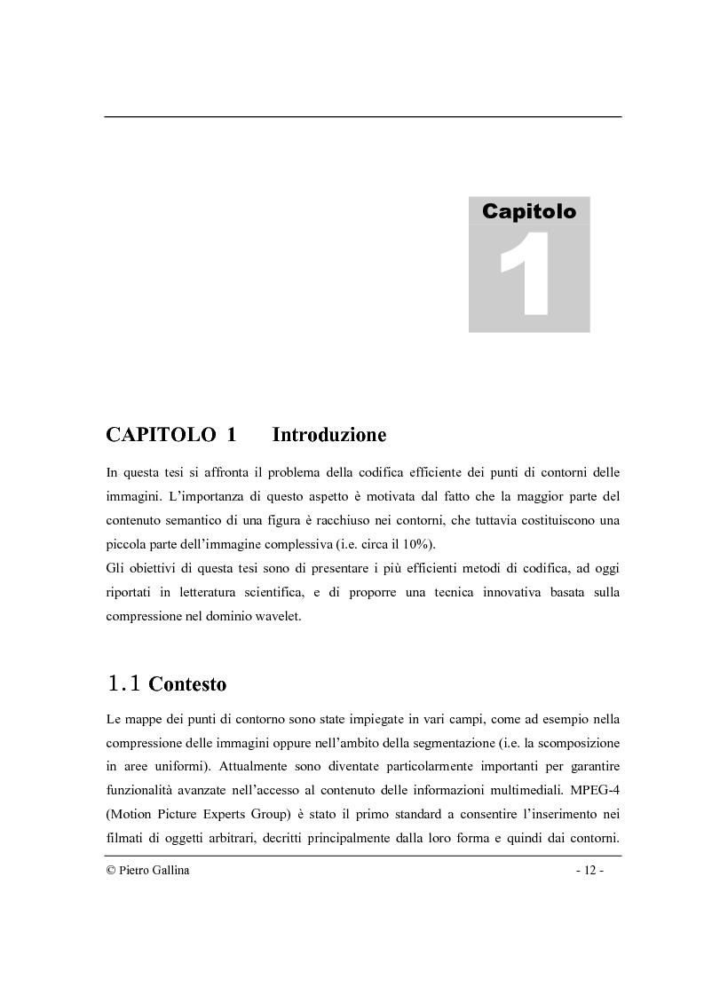 Anteprima della tesi: Tecniche di compressione di immagini di contorni nel dominio wavelet, Pagina 1