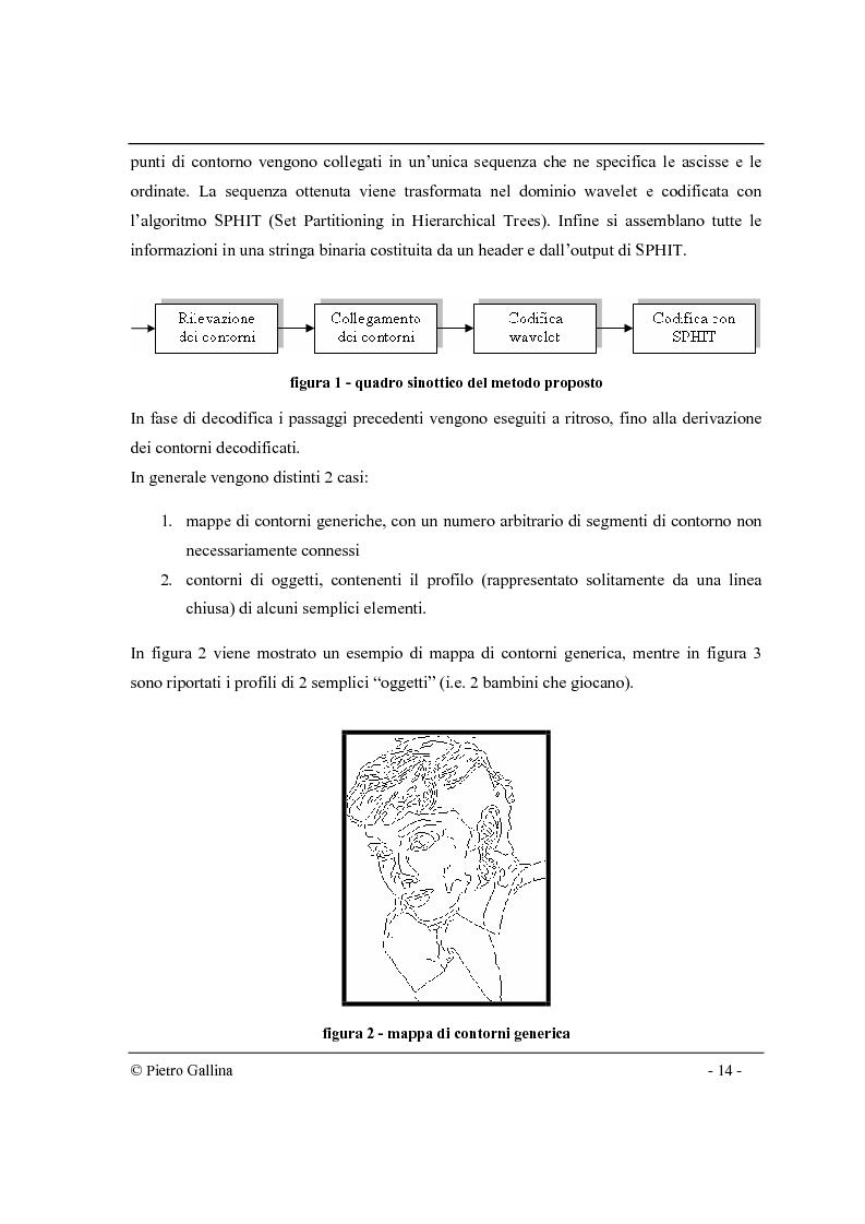 Anteprima della tesi: Tecniche di compressione di immagini di contorni nel dominio wavelet, Pagina 3
