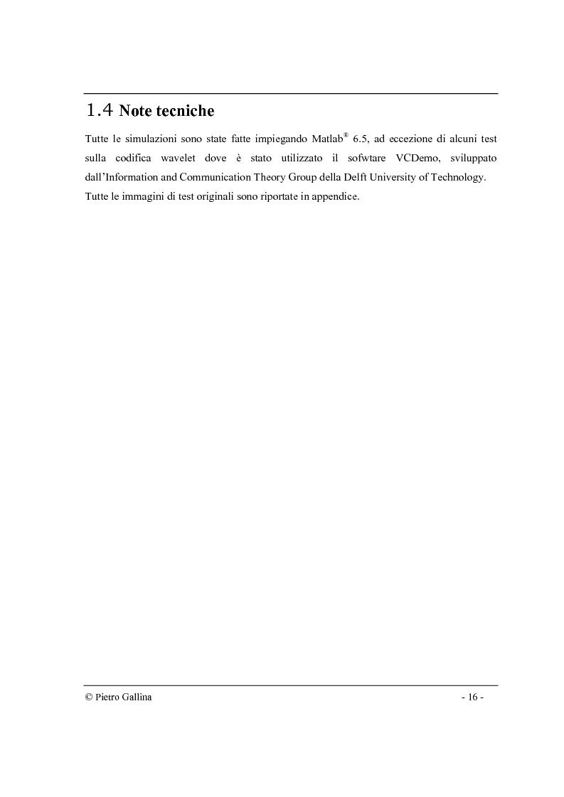 Anteprima della tesi: Tecniche di compressione di immagini di contorni nel dominio wavelet, Pagina 5
