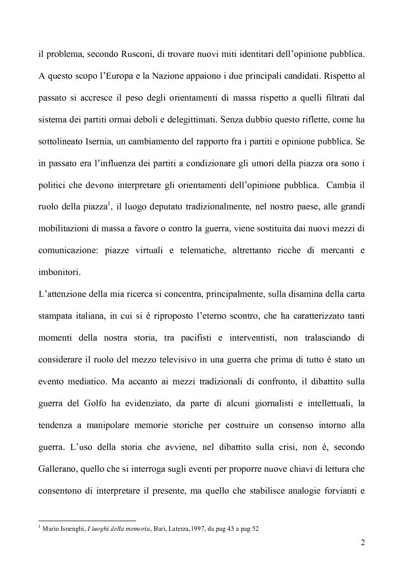 Anteprima della tesi: Un caso di uso pubblico della storia: l'applicazione del paradigma antifascista alla guerra del Golfo del 1991, Pagina 2